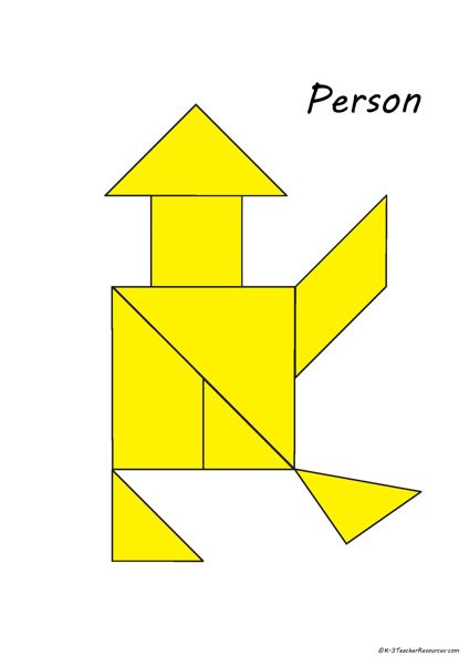 graphic relating to Printable Tangram known as Printable Tangram Puzzles