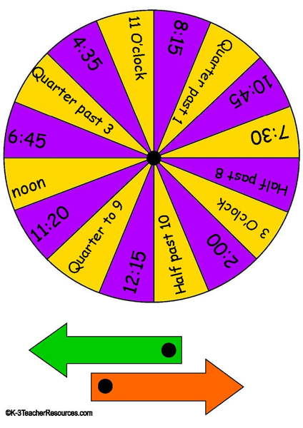 free math game spinners