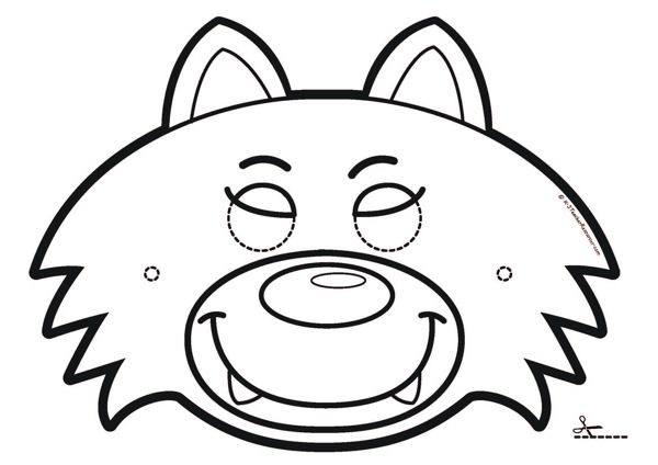 Three Little Pigs Masks (black and white and colour)