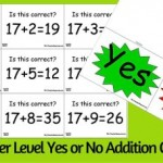 Addition and Subtraction Yes or No Questions
