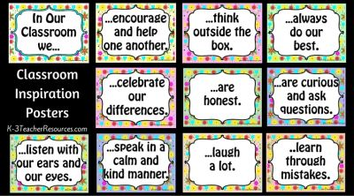 Classroom Inspiration Posters Small