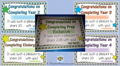 End of Year Certificates 2