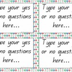 Editable Yes or No Questions Cards Template