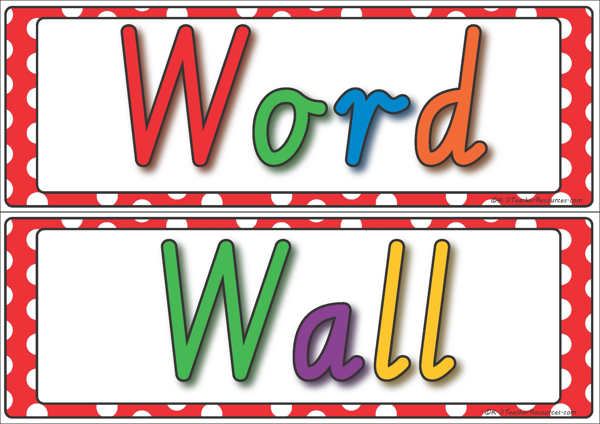 Word Wall Display