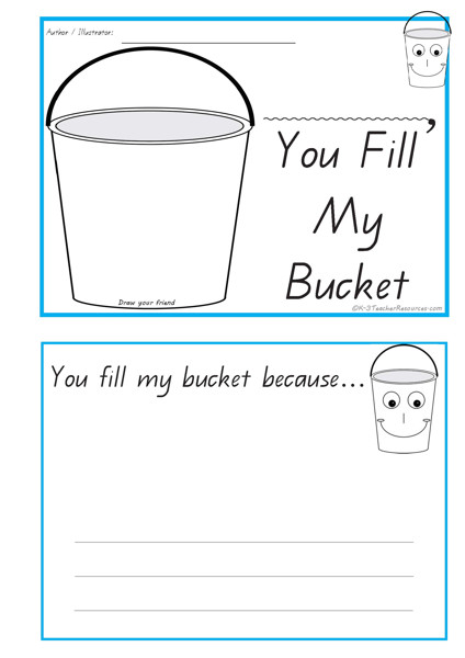 have you filled a bucket today coloring page - attractive bucket filler template crest wordpress themes