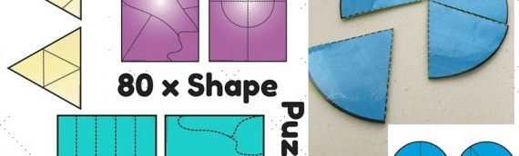 80 Shape Puzzles New Resource
