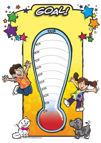 Image result for image of goal thermometer cartoon
