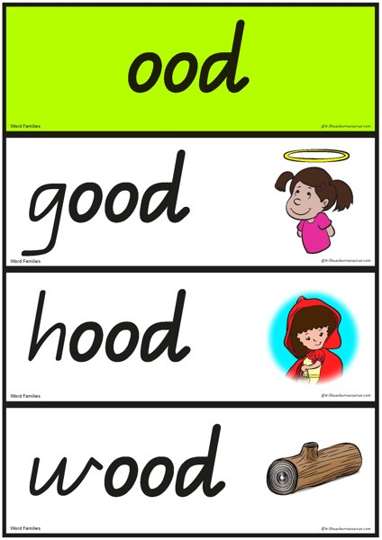 Printables Words With Oo Sound Like Book word families oo sound 1