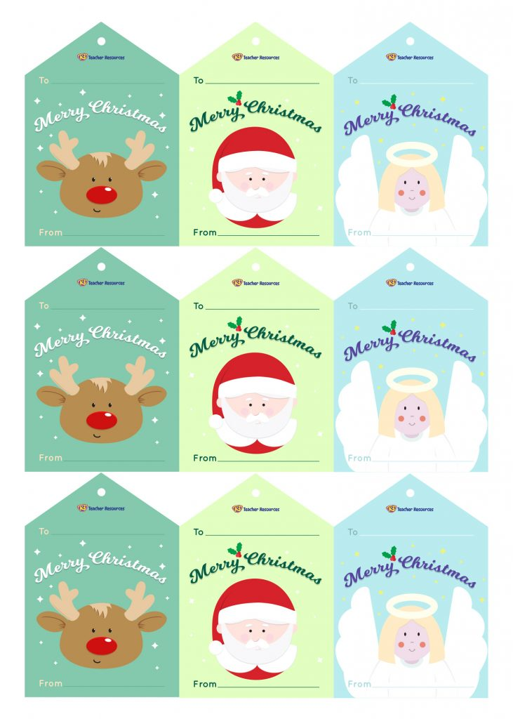 Merry Christmas Gift Tags.Merry Christmas Gift Tags K 3 Teacher Resources