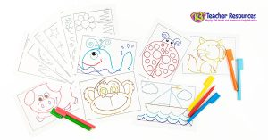 Fine Motor Practice Tracing Worksheets