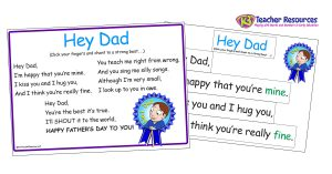 Father's Day Activities - Poem